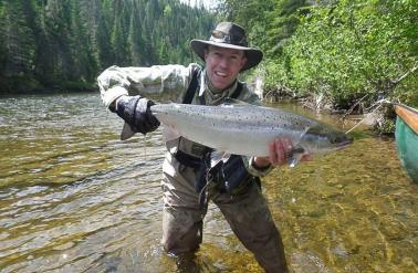 Atlantic Salmon Fly-Fishing - Salmon Lodge on the Gaspe