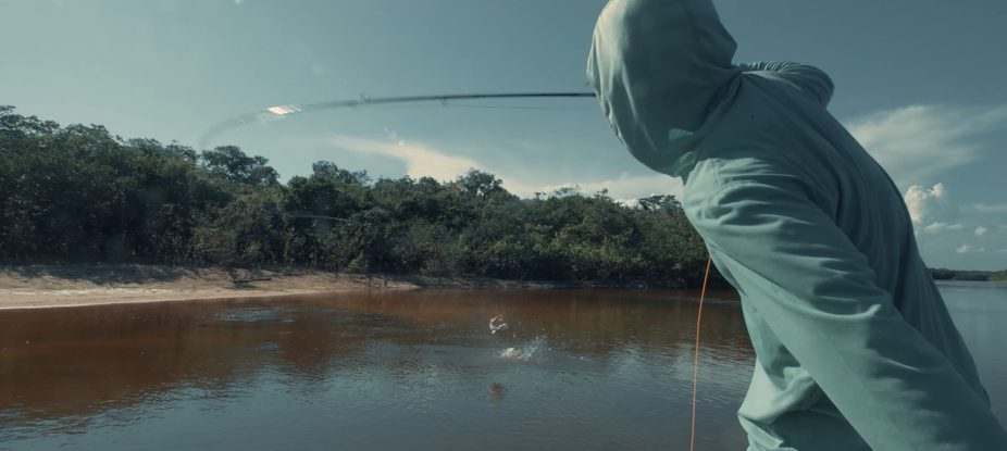 Fly fishing for peacock bass at agua boa lodge - the amazon